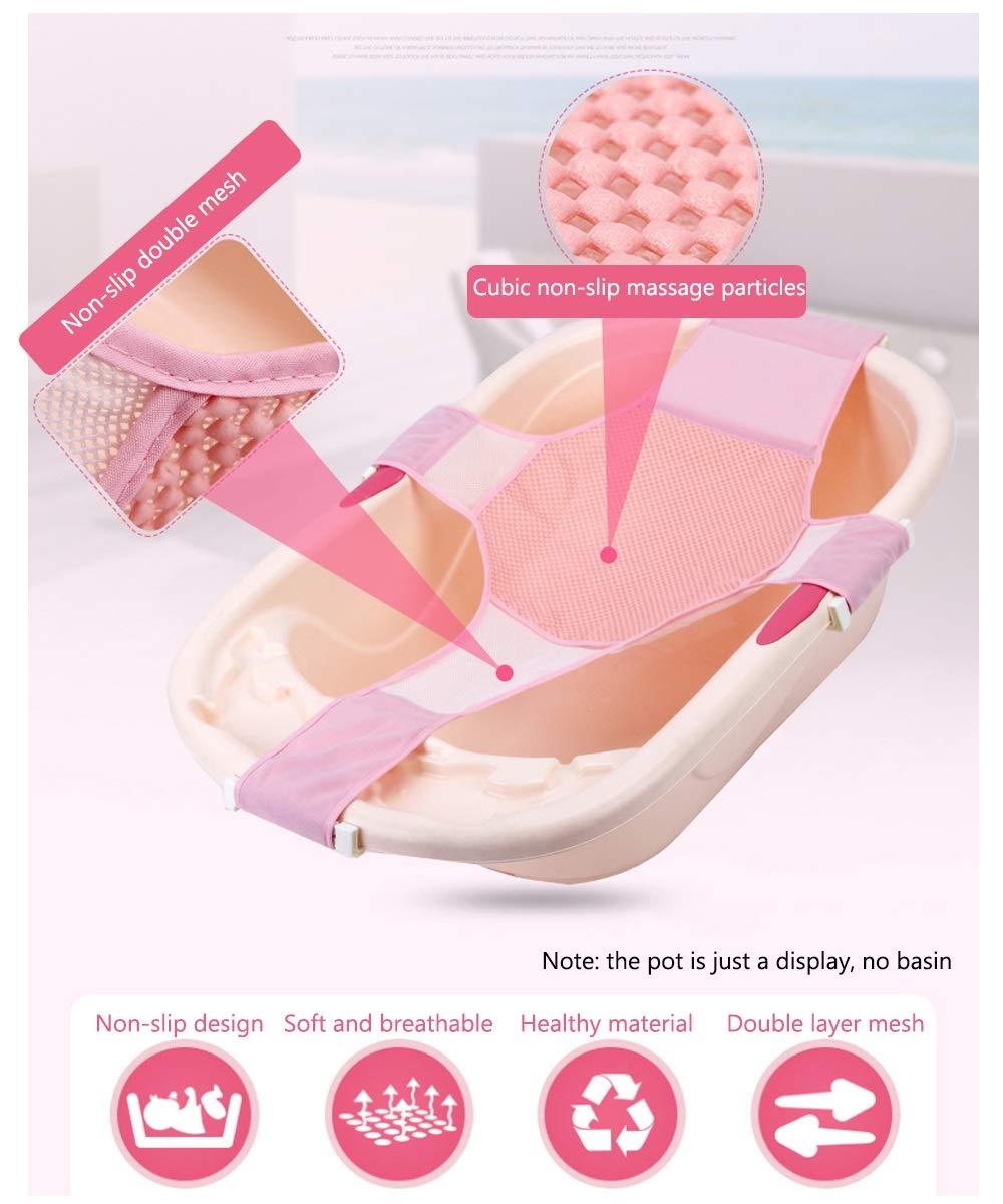 Badezimmer Color : Pink TRER Baby-Bade-Netz Baby-Badematte kreuzf/örmig verschiebbar verstellbare Badematte Badewannensitz Sicherheitsunterst/ützung Baby-Dusche Baby-Matte