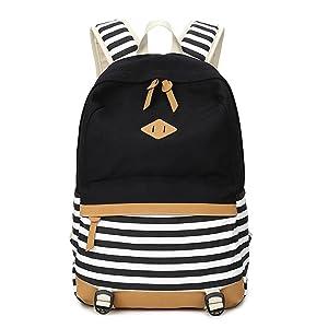 b2765b8c1 Fresion Lightweight Canvas Laptop Backpack Cute School Bag Casual Bookbag  Shoulder Daypack Handbag