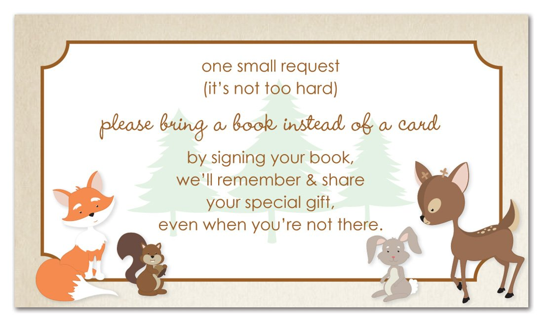 48 Woodland Animals Bring A Book Card by MyExpression.com
