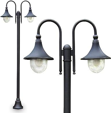 2 verde luci esterne in alluminio e27 ip44 Lampada Parete Lampada Muro Lampada vie