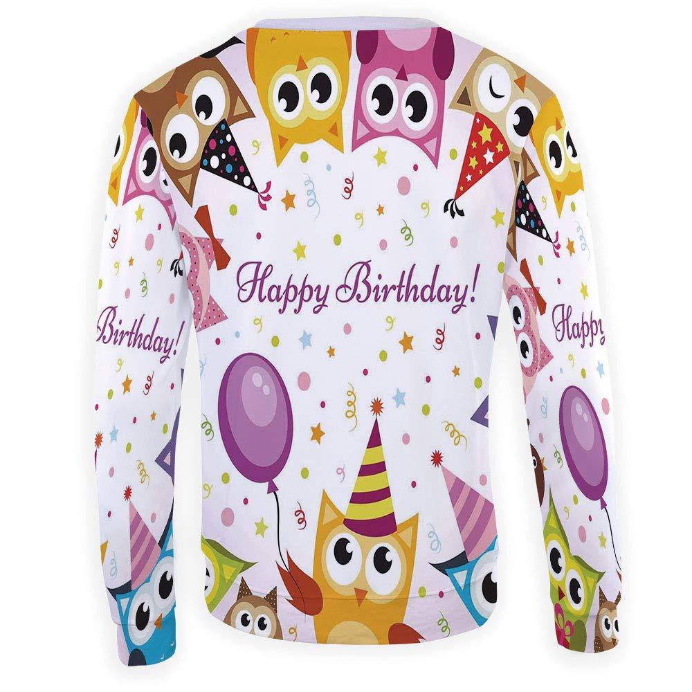 MOOCOM Mens Crewneck Birthday Decorations for Kids Sweatshirt