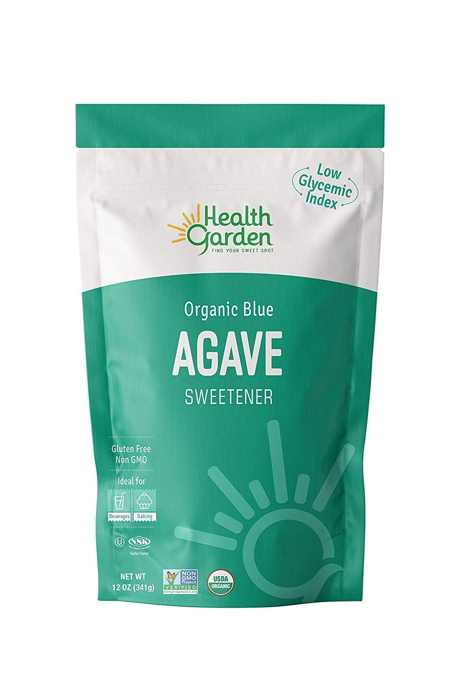 Health Garden Organic Blue Agave Sweetener Crystals - Kosher Gluten Free Non GMO Low Carb, 12 OZ