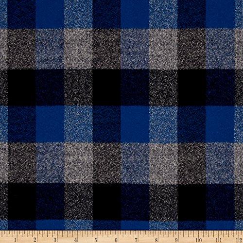 Robert Kaufman Kaufman Mammoth Flannel Plaids Ocean Fabric by The Yard,