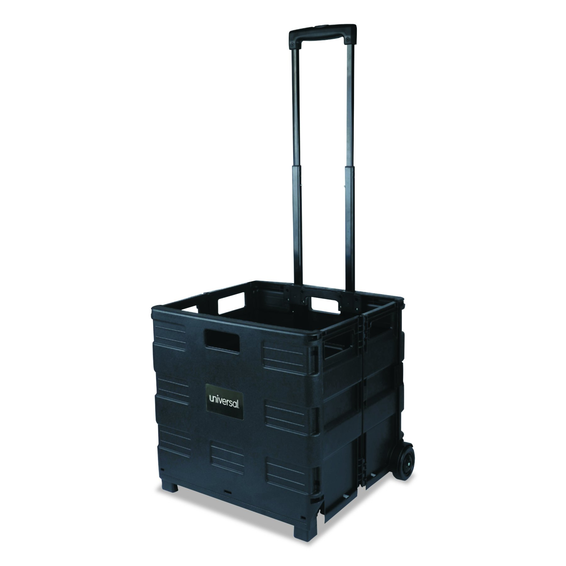 Safco Products 4054BL STOW AWAY Collapsible Mobile Storage Crate, Black by Safco Products