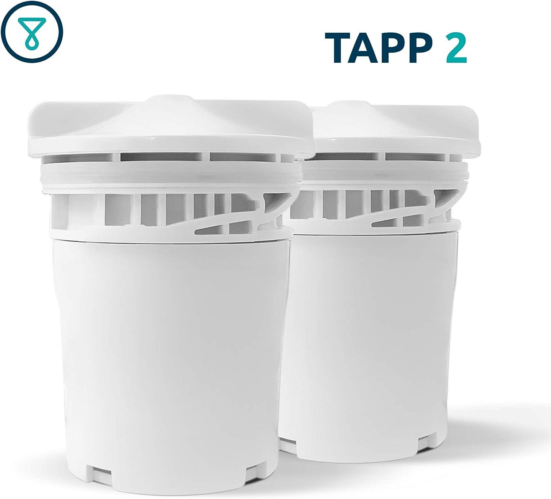 TAPP Water TAPP 2 - Juego de 2 cartuchos de recambio para filtros ...