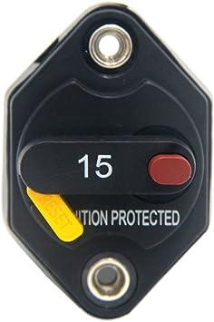 15A 20A 30A AMP Marine Circuit Breaker IP67 Waterproof 12V DC Fuse Manual Reset