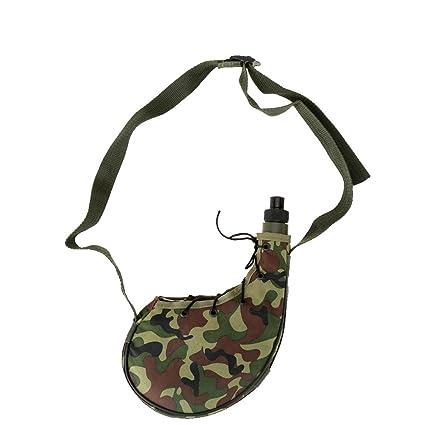 Amazon.com: LKXHarleya - Botella de agua militar con ...