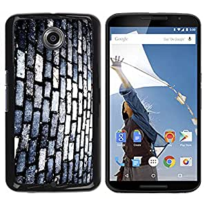 Qstar Arte & diseño plástico duro Fundas Cover Cubre Hard Case Cover para Motorola NEXUS 6 / X / Moto X Pro ( Brick Wall Footpath Street Modern Art Random)