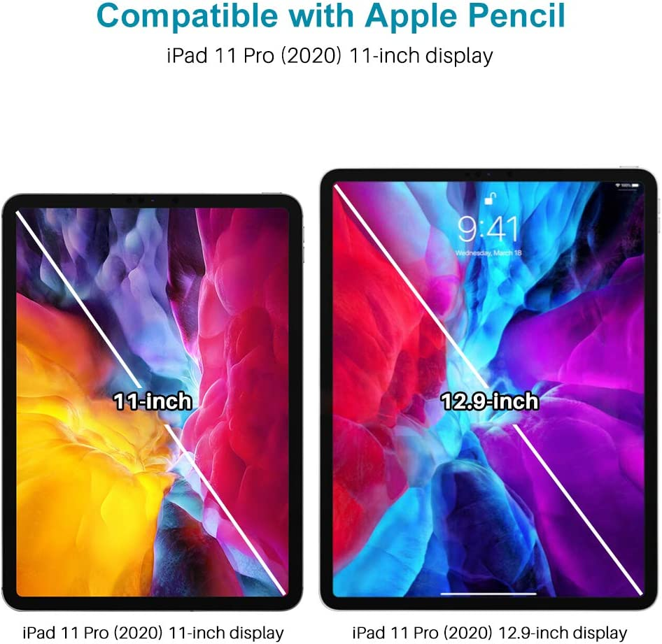 with 2 Pack Tempered Glass Scratch Resistance 4 Pack Alignment Frame 2020 Apple Pencil&Face ID Compatible 2 Pack Camera Lens Protector, LϟK Screen Protector for iPad Pro 11 inch