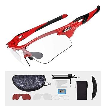 DAYANGE Gafas De Ciclismo Fotocrómicas Polarizadas Gafas De Bicicleta Deportes Al Aire Libre Gafas De Sol