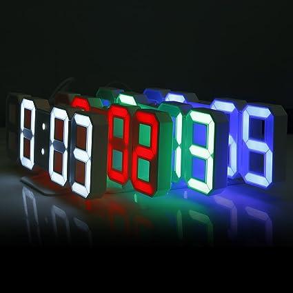 Digital Office Wall Clocks Digital. 3D LED Digital Wall Clocks 24 / 12  Hours Display