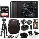 PANASONIC LUMIX ZS200 4K Camera 15X LEICA DC Vario-Elmar Lens DC-ZS200K - USA Black (Deluxe Bundle)