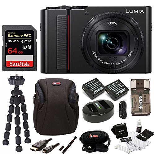 - PANASONIC LUMIX ZS200 4K Camera 15X Leica DC Vario-Elmar Lens DC-ZS200K (USA Black) Premium Bundle