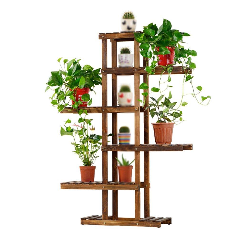 Multilayer Massivholz Blumenregal Holzboden Typ Bonsai Blume Regal Balkon Wohnzimmer Innen