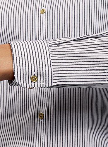 Oodji Ultra Bianco 1079s Con Camicia Ricamo Cotone In Donna rrqAdw0