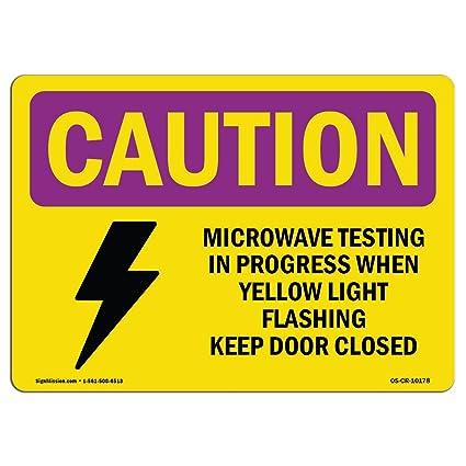Señal de radiación Osha Caution - Prueba de microondas amarillo ...