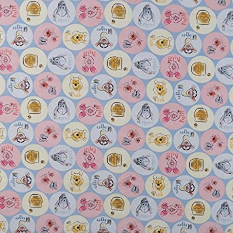 SheetWorld Fitted Crib / Toddler Sheet - Pooh & Friends Circles - Made In USA