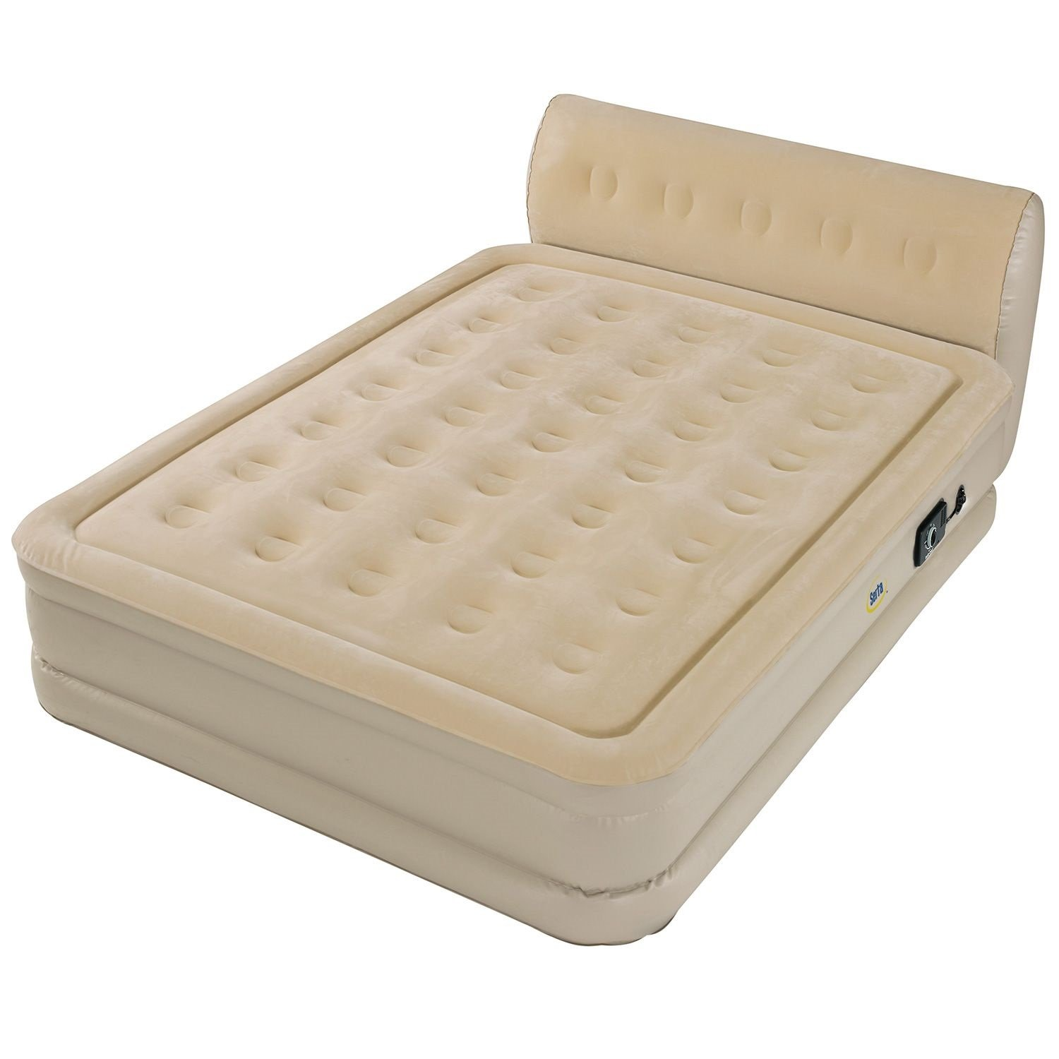 intex res pillow beds dura inflatable size with ebay rest raised pu itm air bed pump beam king