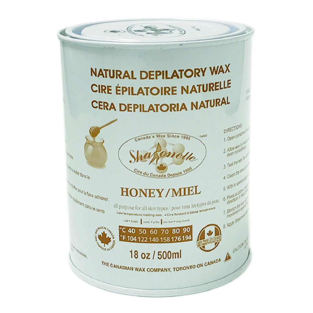 Sharonelle Soft Wax All Purpose Natural Depilatory Canned Wax (6 pcs, Honey)