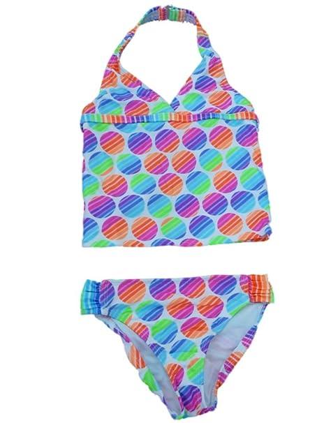 f19a86c8e7 Angel Beach Girls Neon Polka Dot Swimming Suit Swim Tankini Bathing Suit 2  PC 4