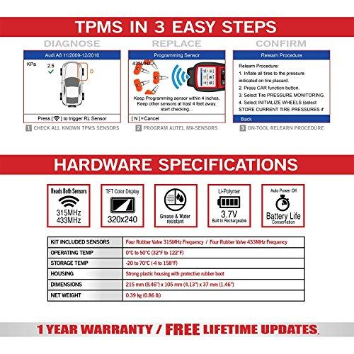 Autel MaxiTPMS TS508 TPMS Diagnostic Tool, Check TPMS System