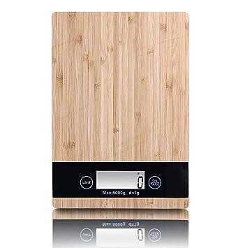 ZHESHEN Báscula Cocina, Balanza Electrónica De Cocina Con Plataforma De Gran, 5Kg/1G