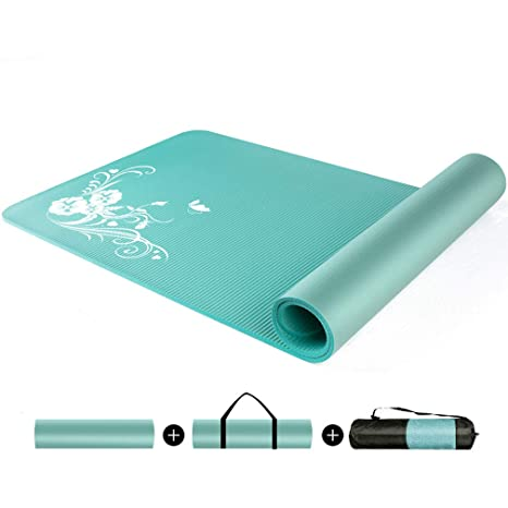 Amazon.com : CAJOLG 10mm Thick Yoga Mat Gym Mat, Yoga ...