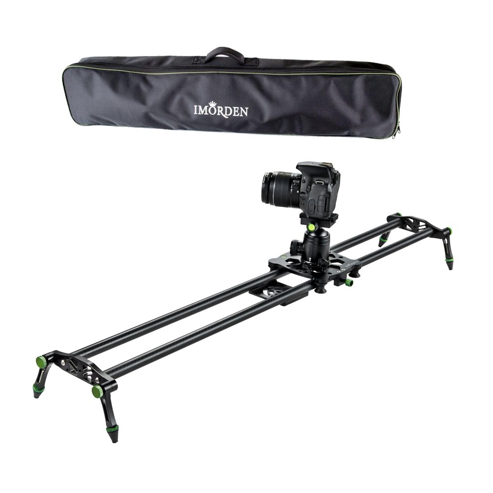IMORDEN 40''/100cm Carbon Fiber Video Stabilization Camera Slider(Up to 6kg/13.2lbs)DSLR Rail Dolly Track Film Making Kit for Youtuber, Works with Canon, Sony, Nikon Camera,Phone, Gopro and Tripod