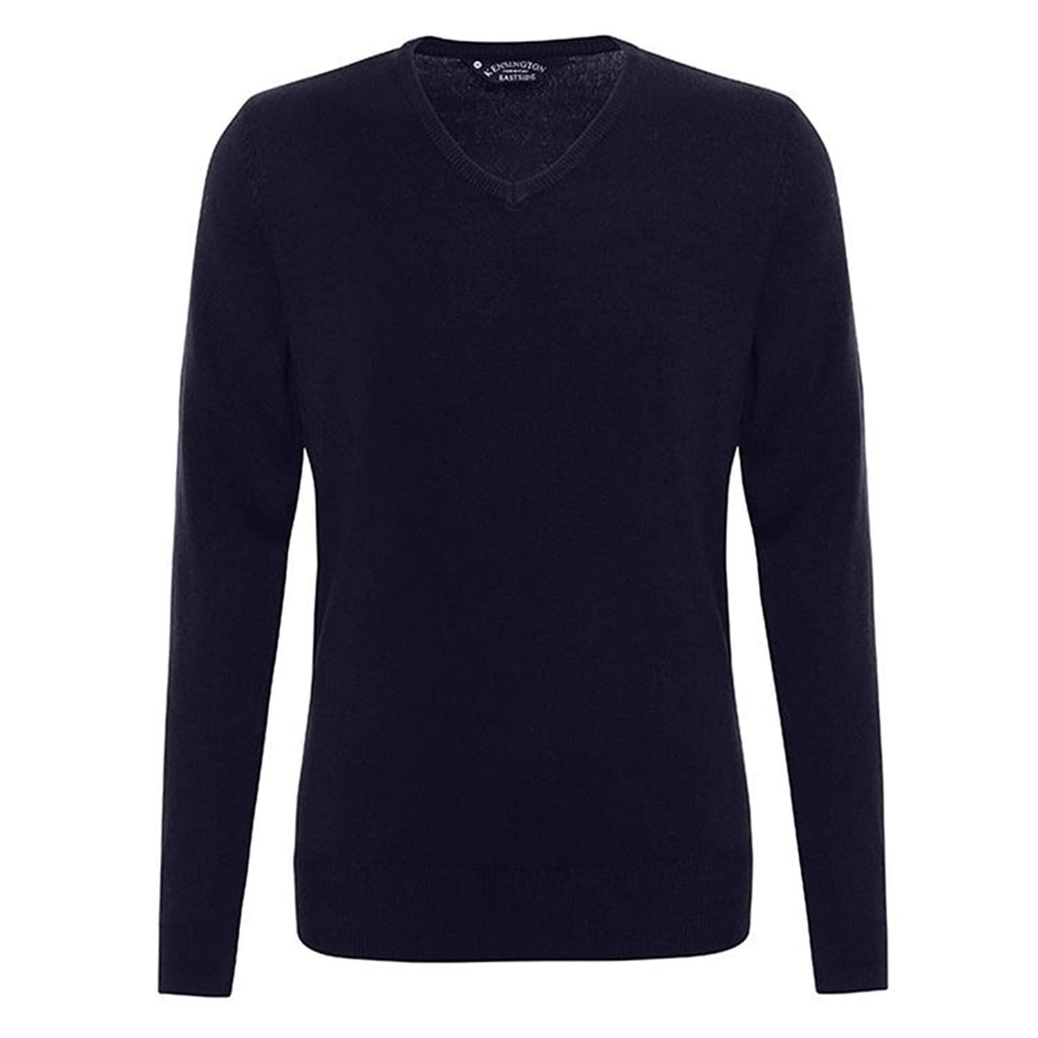 Mens V-neck Jumper Renold Acrylic Cashmilon Sweater knitted by Affordable Fashion
