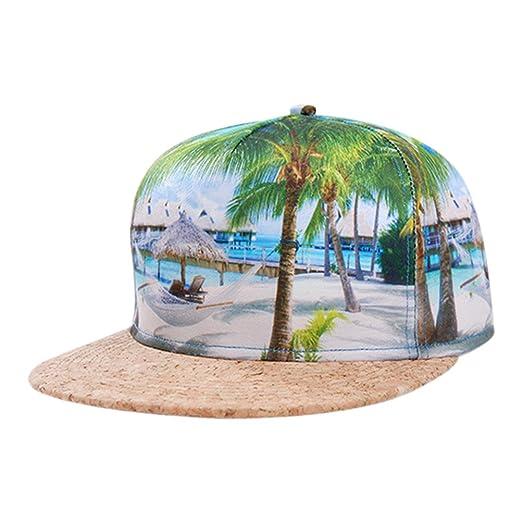 Image Unavailable. Image not available for. Color  So each Galaxy Hawaii  Coconut Tree Print Flatbill Visor Snapback Cap Baseball Hat f09b06444632