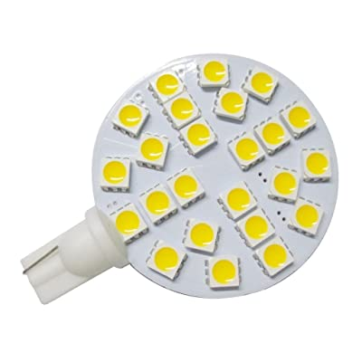 GRV T10 921 194 24-5050 SMD LED Bulb lamp Super Bright Warm White AC/DC 12V -28V Pack of 10: Automotive