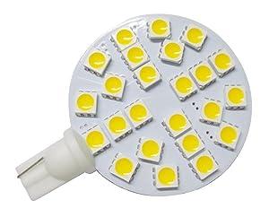 GRV T10 921 194 24-5050 SMD LED Bulb lamp Super Bright Warm White AC/DC 12V -28V Pack of 10