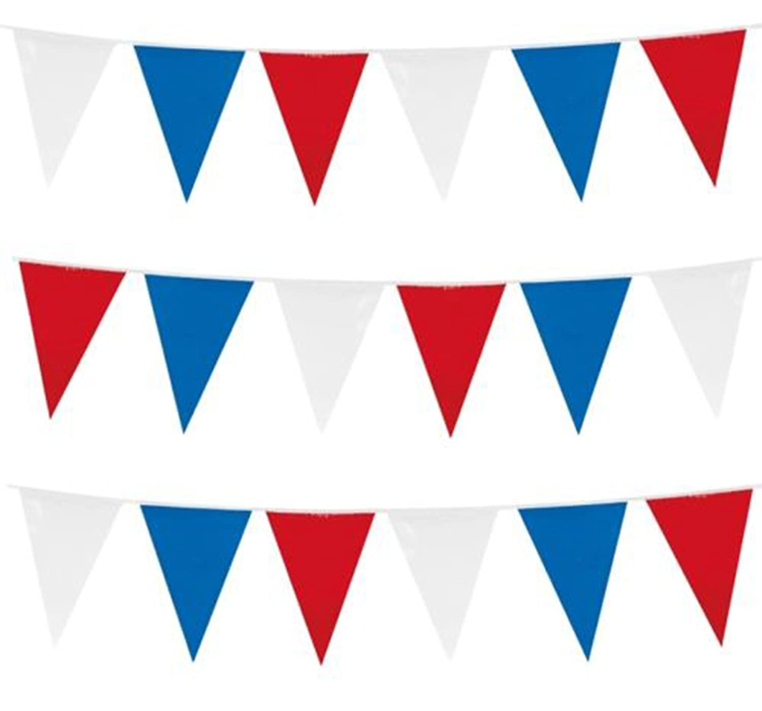 10m / 20 FLAGS COLOUR BUNTING FLAGS PENNANTS PARTY DECORATIONS PARTIES FLAG (Baby Blue) REDSTAR
