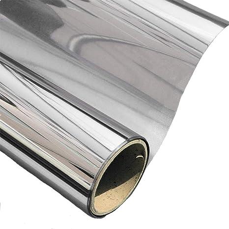 AoJia Vinilo Ventana Privacidad Protector Reflejo Solar de Una Manera Espejo Cristal de Ventanal Película Adhesiva