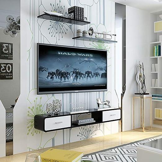Gabinete de TV de Pared Estante Flotante con cajón Estante de ...