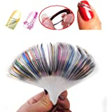 Coscelia 30 pcs Nail Sticker Fil Bandes Striping Tape Autocollant Manucure Faux Ongle Nail Art Tips