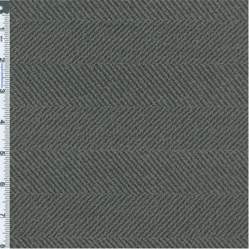 Carbon Black Herringbone Home Decorating Fabric, Fabric By the ()