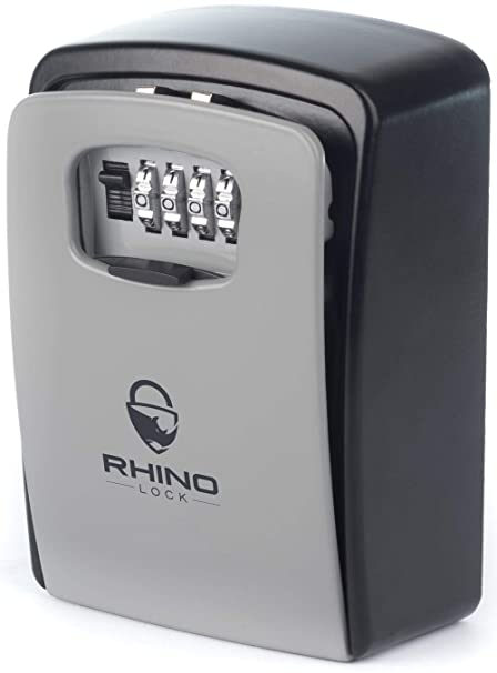 Rhino Lock Secure Key XL Combination Safe - Outdoor Heavy Duty Wall Mounted  Security Lock Box - XL Large Internal Storage for House or Office Keys