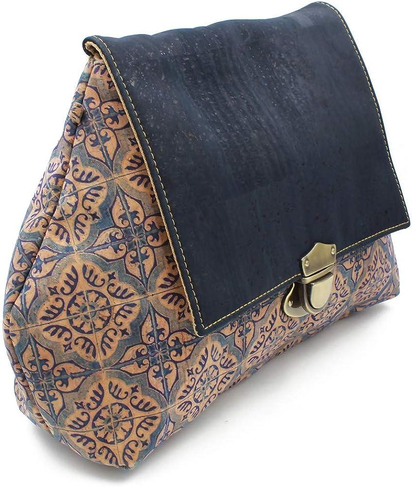 Details about  /100/% Natural Portuguese Cork Vegan Shoulder Bag Purse Made In Portugal