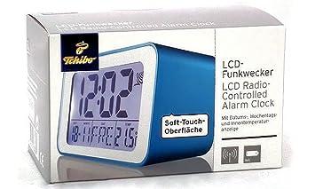 Amazon.de: TCM Tchibo LCD Funkwecker, Snoozefunktion (Türkis)