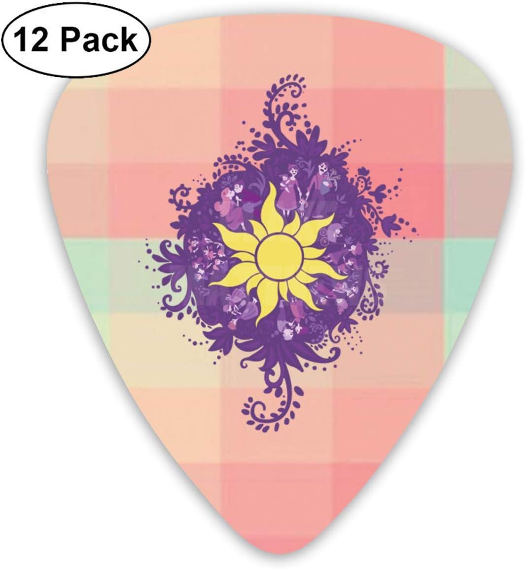 Tuiu Tangled Sun Symbol 12 Pack Classic Guitar Picks Plectrums For Electric Guitar Original Voice Guitar Mandolin And Bass Amazon Co Uk Musical Instruments