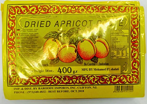 Dried Apricot Fruit Paste Sheet 3 Pack ()