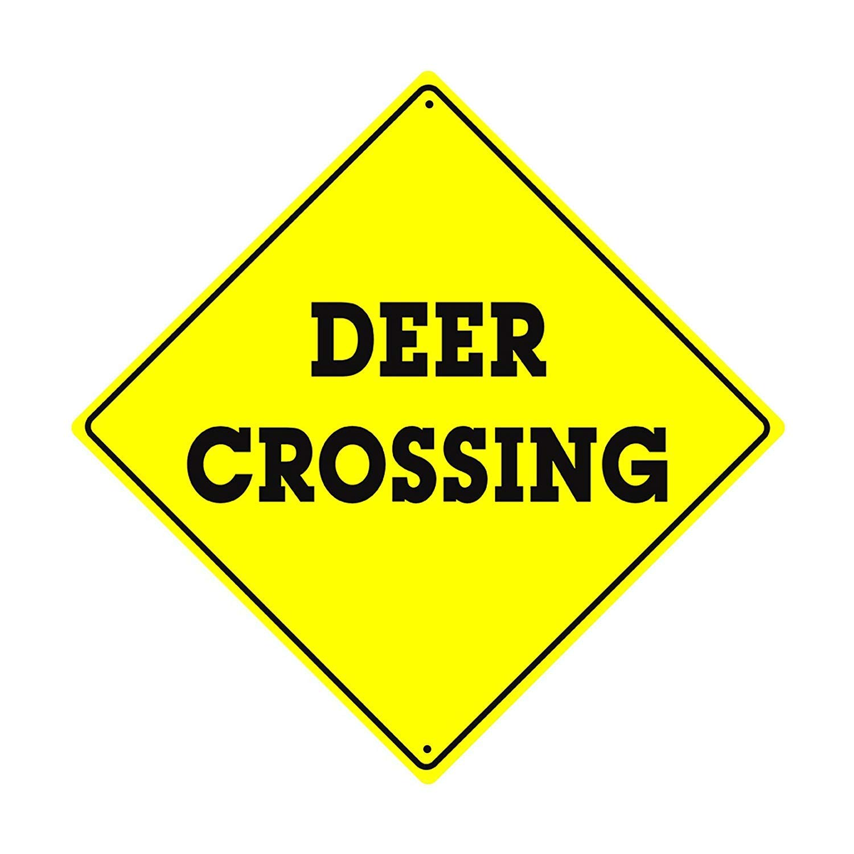 Deer Crossing Póster De Pared Metal Retro Placa Cartel ...