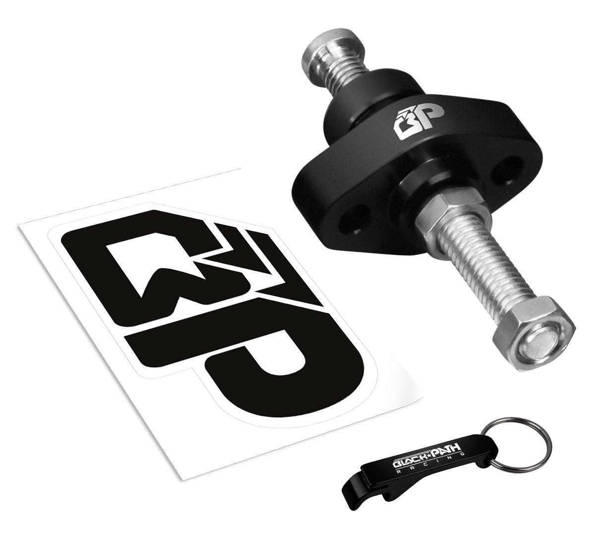 BlackPath - Kawasaki Manual Adjustable Chain Tensioner Kit Ninja ZX-6R + ZX6RR + 636 Motorcycle Valve Timing (Black) T6 Billet