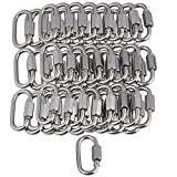 CNBTR M3.5 Stainless Steel 304 Quick Link Chain Fastener Carabiner with Screw Set of 50