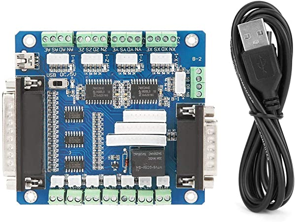 Scheda di breakout motore passo-passo scheda di breakout dellinterfaccia USB MACH3 5 assi per motore passo-passo CNC