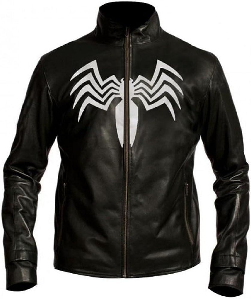 BillzDen Mens Revenge Spider Venom Man Real Leather Jacket