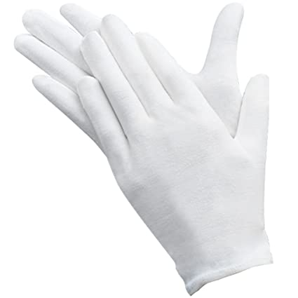 Umsole - Confezione da 10 paia di guanti bianchi in cotone morbido ... 5f7c8c1aa5e6