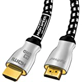 Toptrend 4K HDMI Cable 6ft 24Gpbs High Speed Cable to HDMI 2.0 Supports 1080p, 3D, 2160p, 4K 60Hz UHD, HDR,CL3 for in-Wall In