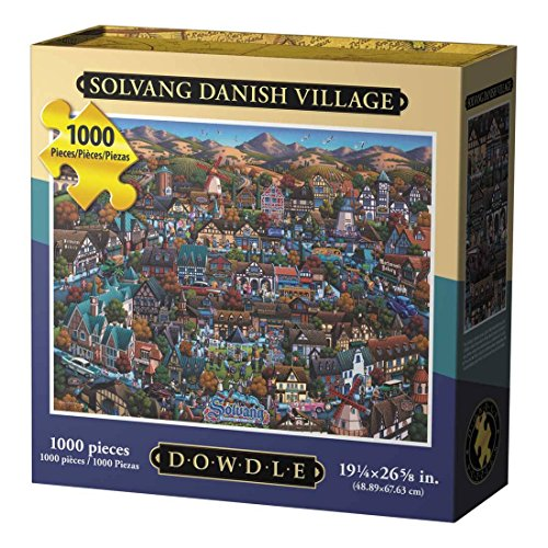 Dowdle Folk Art Solvang Danish Village Jigsaw Puzzle (1000 Piece)